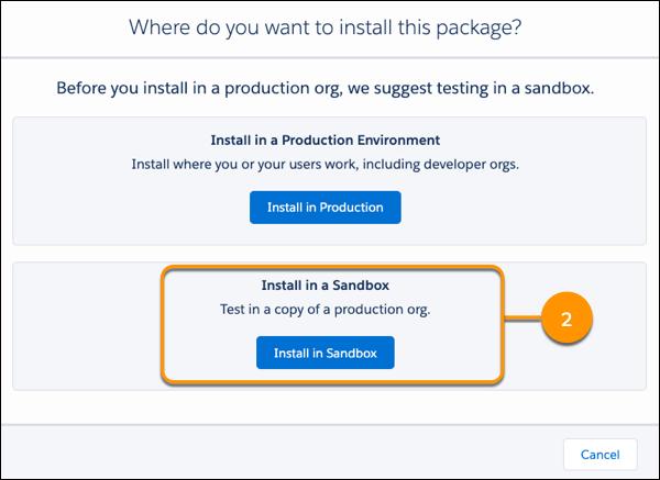 Exibição do botão de instalação para uma oferta do AppExchange.