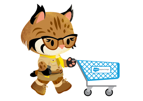 A view of Appy from the AppExchange store going shopping