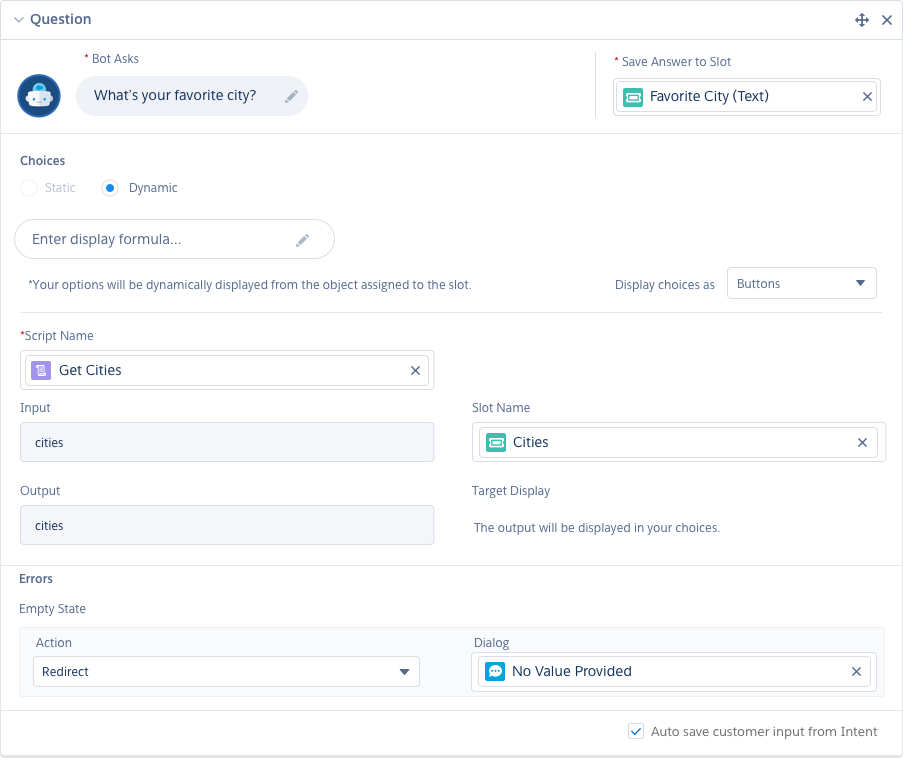 Building your bot is simple with Salesforce, allowing you to use clicks not code.