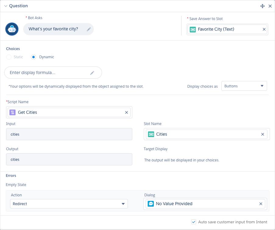 Die Erstellung Ihres Bots mit Salesforce ist einfach, da Sie mit Mausklicks statt Code arbeiten können.