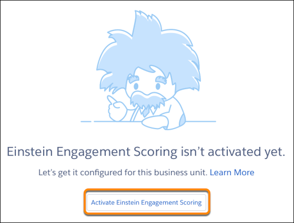 Screenshot of an inactivated account with Activate Einstein Engagement Scoring circled.
