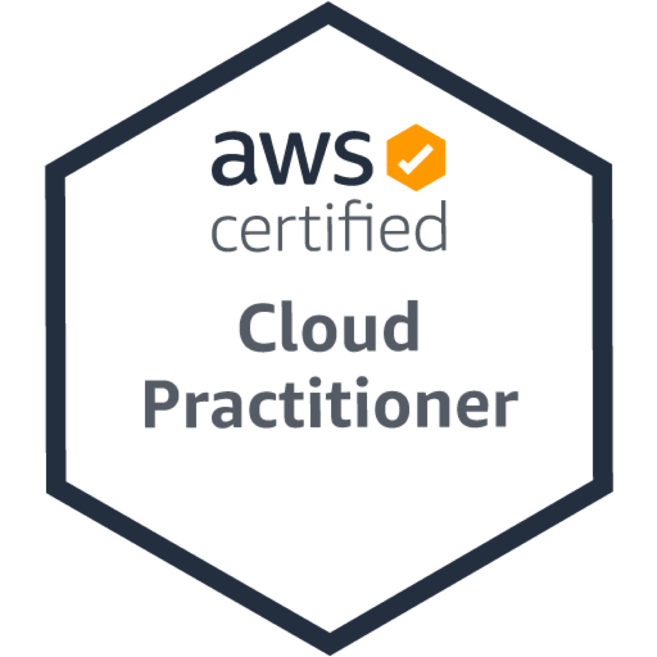 certification badge for Cloud Practitioner