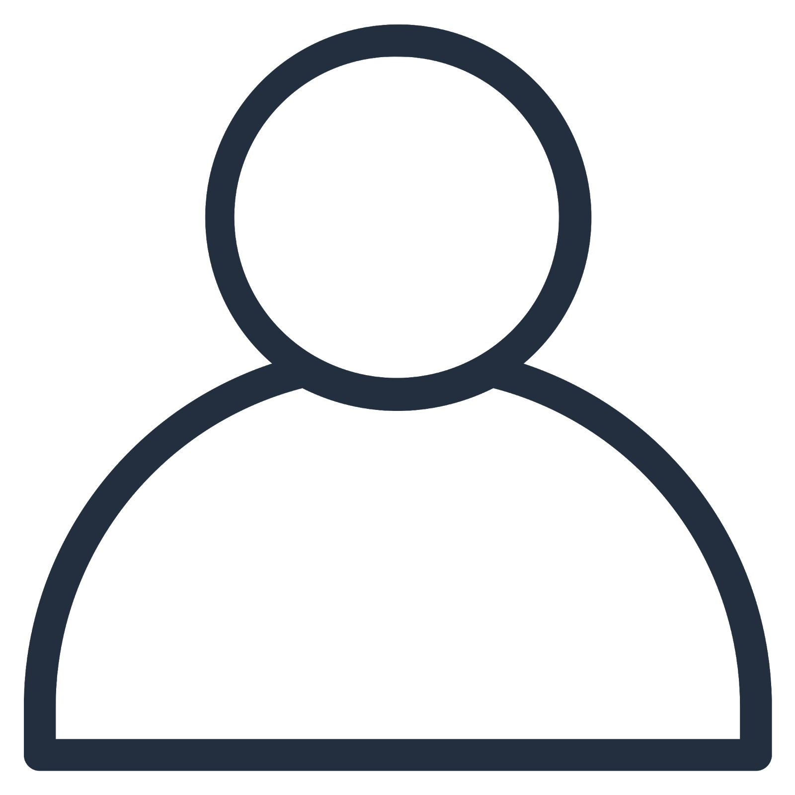 Icon depicting a single user