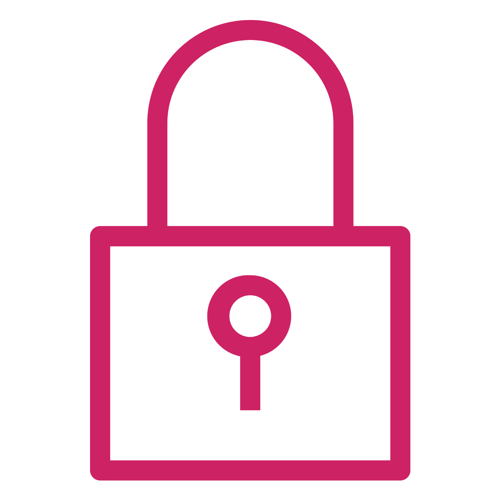 Permissions icon depicting a closed lock