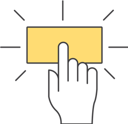 A finger clicking on a button