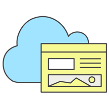 A cloud with a dashboard
