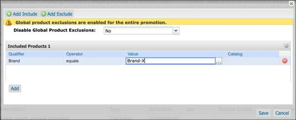 In Business Manager, select the             brand and products to be included in the 20off-brandxsuperspeed             promotion.
