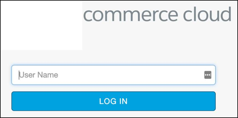 Log in to the Salesforce Commerce Cloud repository