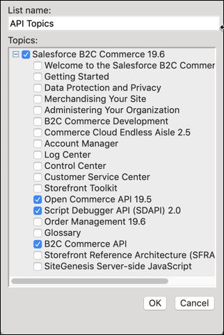 Select the Infocenter topics.