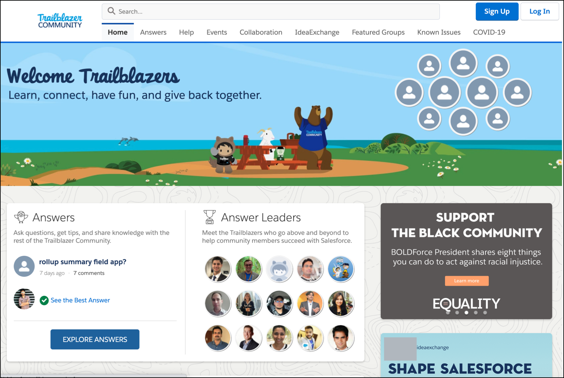 Join the Salesforce Trailblazer Community to access current information, collaborate with others, and suggest new features.