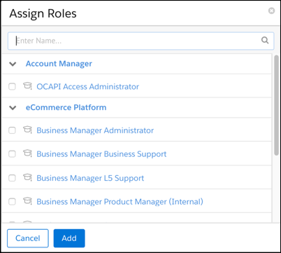 Account Manager assign       roles.