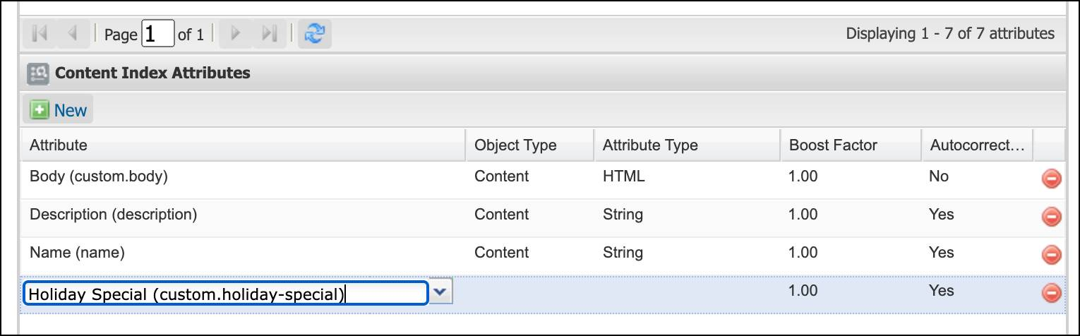 In Business Manager, add a new system content object attribute to the content index.