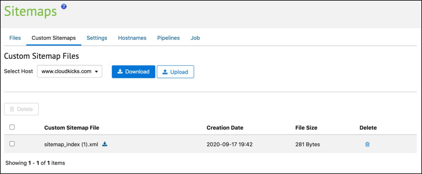 In Business Manager, create a custom sitemap.