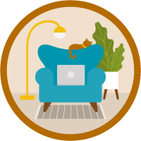 Best Practices for Working from Home icon