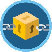 Concepts de base de blockchain icon