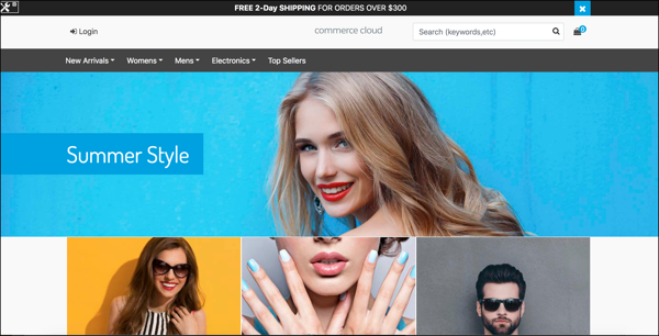 Commerce Cloud Storefront Reference Architecture landing page