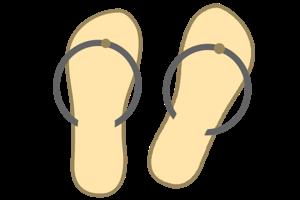 1 足のビーチサンダル