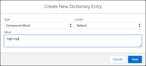 Business Manager - create a new           dictionary entry
