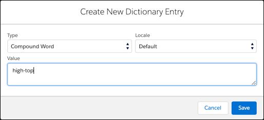Business Manager – Criar um novo verbete do dicionário