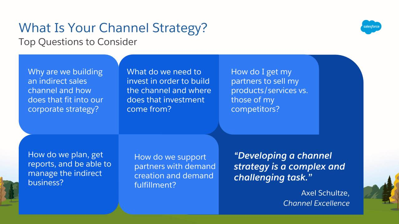 Channel strategy development requires asking and answering key questions about your business needs.