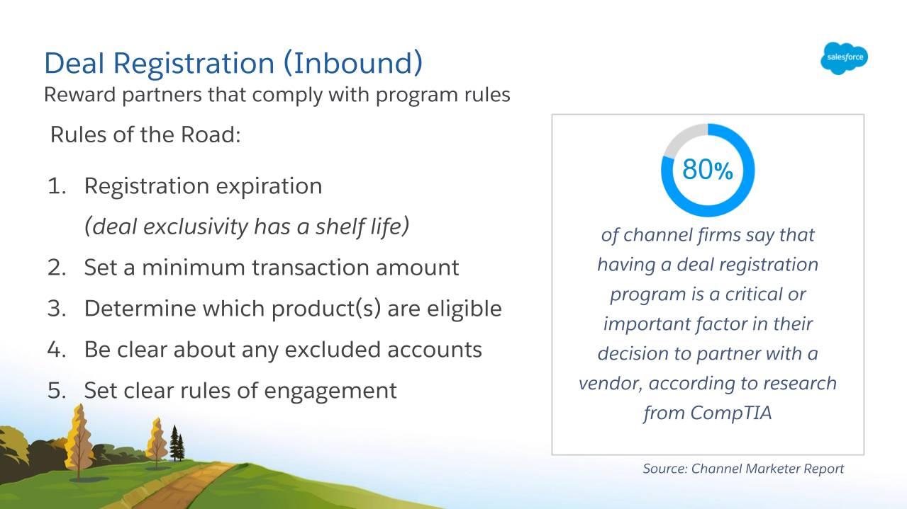 交易注册是奖励遵守计划规则的合作伙伴的好方法。