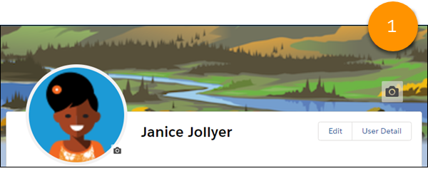 A banner image on a profile page