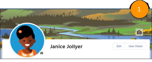Una imagen de pancarta en una página de perfil