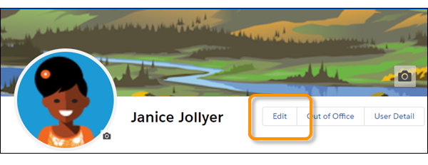 Botón Modificar en cartel de perfil