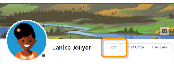 Botão Editar no banner de perfil.