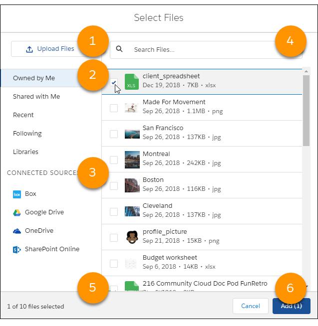 Select Files dialog