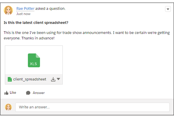 Una pregunta con archivos adjuntos