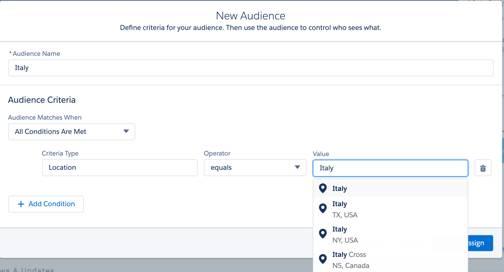 Como configurar critérios de público para segmentar conteúdo específico por públicos específicos.