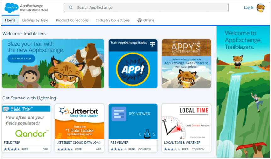 AppExchange est un immense catalogue d'applications Salesforce proposées par les partenaires.