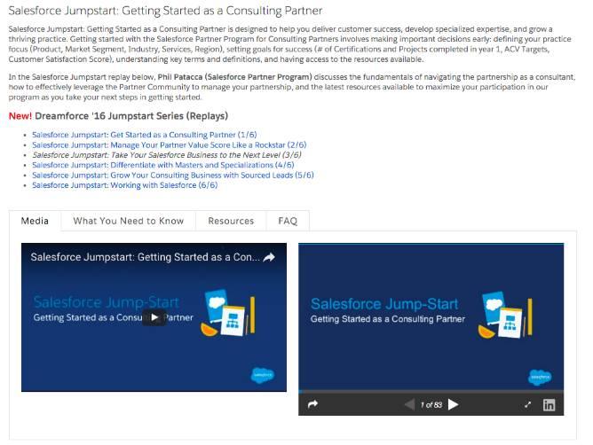 Jumpstart (ジャンプスタート) ページには、詳細を学ぶのに役立つ豊富な資料が用意されています。