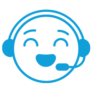 Happy agent with headset