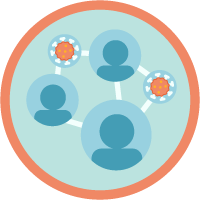 Contact Tracer Roles and Responsibilities icon