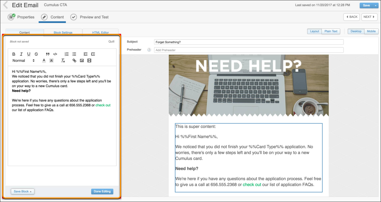 Block widget with external WYSIWYG editor.
