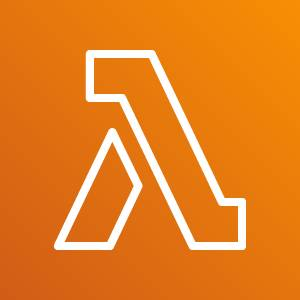 Lambda icon depicting the Greek letter lambda (two lines forming a triangle with an open base) against an orange background