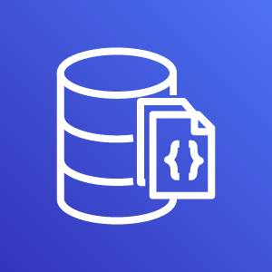 Amazon DocumentDB icon depicting a database with documents against a blue background