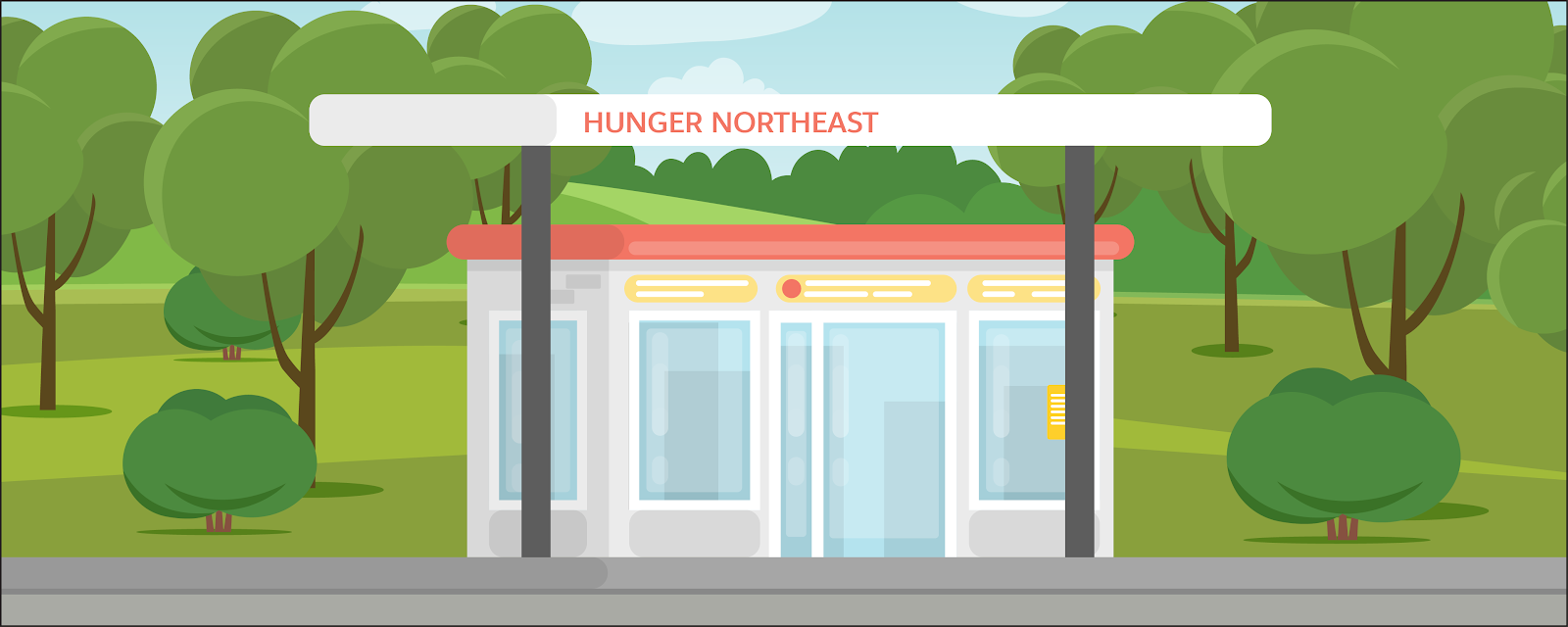 Hunger Northeast is a small food pantry in a rural area run out of a converted gas station.