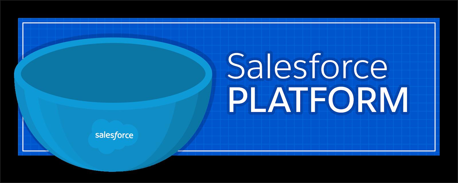 サンデーの器は Salesforce プラットフォームに相当し、すべての Salesforce 実装の基盤です。