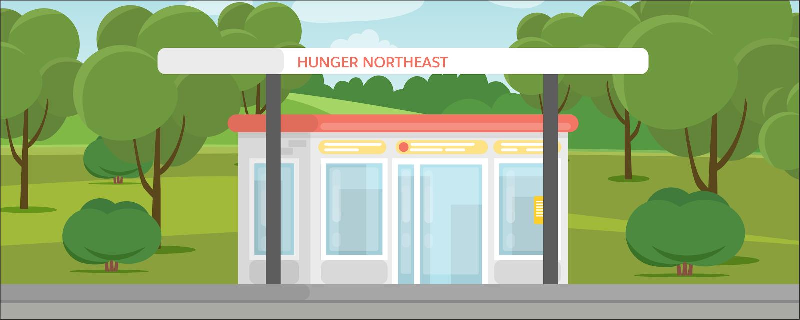 Hunger Northeast は、以前ガソリンスタンドだった場所を利用して運営されている地方の小さなフードパントリーです。