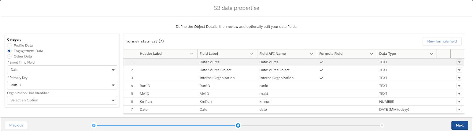 S3 data properties