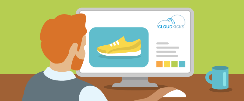 Alan Johnson practices the Know Your Customer step of customer-centric discovery by visiting the Cloud Kicks website.