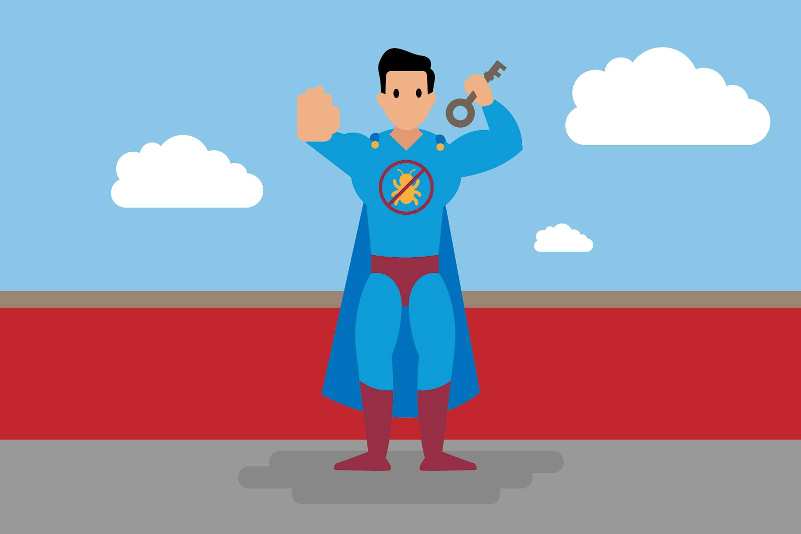 A superhero is holding the key to protecting an organization from cybersecurity threats.