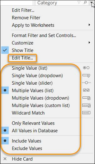 Filter context menu showing filter options