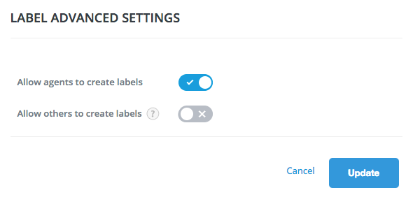 update advanced settings
