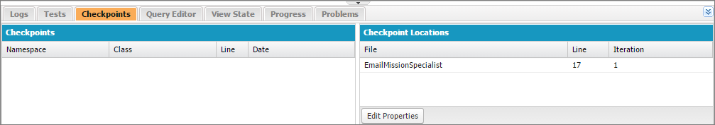 Checkpoint Tab Results