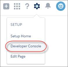Access the Developer Console, Lightning Experience