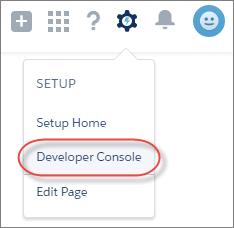 開発者コンソールへのアクセス、Lightning Experience